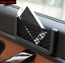 Universal Car Auto Storage Mesh Net Mobile Phone Organizer Bag Holder Pocket
