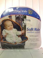 BABY CAR SEAT SOFT RIDE COMFORT CUSHION 2 SIDED POLAR AND MICRO FLEECE NEW