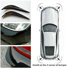 2Pc Car Bumper Anti-Rub Guard Cover Sticker Protector 3D Black Streamline Strip