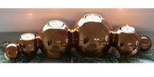 Casablanca Kerzenhalter Dekoration Leuchter kupfer Copperball Keramik Ball 51617
