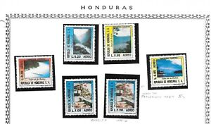 HONDURAS. 1986. AIR. TOURISM SET NEVER HINGED MINT WITH VARIETY OF 1L