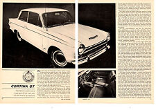 1965 FORD CORTINA GT  ~  ORIGINAL 4-PAGE ROAD TEST / ARTICLE / AD