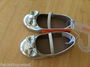 NWT Gymboree Girl Silver Flats Dress Shoes 5 7 10 Very merry