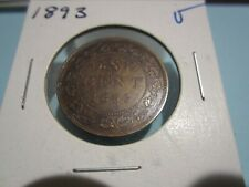 1893 - Canada - 1 cent - Canadian penny - circulated