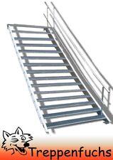 15 Stufen Stahltreppe einseitigem Geländer Breite 90 cm Geschosshöhe 250-320cm