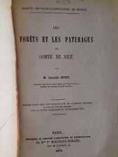 GUIOT LEONIDE / LES FORETS ET LES PATURAGES DU COMTE DE NICE EO 1875