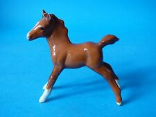 VERY RARE COLLECTABLE BESWICK CHESTNUT GLOSS HORSE FOAL FACE LEFT 997 FREE UK PP