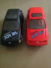 Scalextric Ford Fiesta XR2i Cars x2 for light restore as pictured engines run