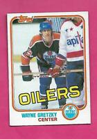 1981-82 TOPPS # 16 OILERS WAYNE GRETZKY EX-MT CARD (INV# D1869)