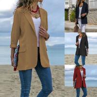 Mode Femme Confortable Blazer Casuel en vrac Manche Longue Mode Manteau Plus