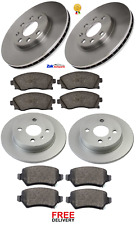 FOR VAUXHALL MERIVA 1.4 16V (2003-2010) FRONT & REAR BRAKE DISCS & PADS SET NEW
