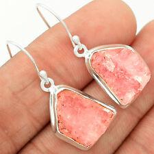 Morganite Rough 925 Sterling Silver Earrings Jewelry MGNE67