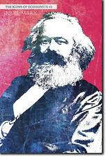 Iconos de la economía # 03-Karl Marx-única foto impresión de arte Regalo Econ
