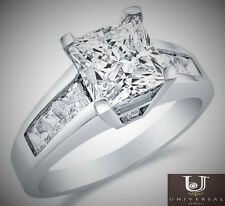Square Princess Cut Solitaire Princess Cut 14k White Gold Engagement Ring Band