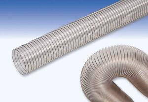 Tubo flex aspirazione poliuretano con spirale in acciaio ramato Ø interno 70 mm