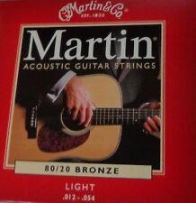 Martin 80/20 Bronze Light 12-54 Acoustic Guitar Strings