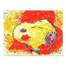 """Tom Everhart """"A Kiss is Just a Kiss"""" Hand Signed Numbered L/E Snoopy #42/350 LOA"""
