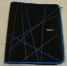 "Mead Five Star Zipper Binder 2"" Rings School Notebook 3 Ring Black Blue New"