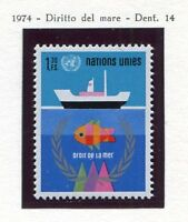 19533). UNITED NATIONS (Geneve) 1974 MNH** Nuovi** Sea