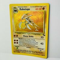 Kabutops 9/62 Holo Fossil Set WOTC Pokemon Card Near Mint/Very good+