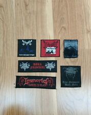 Mayhem Immortal  darkthrone Patch Lot black metal