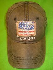 PETERBILT HAT:      Waxed Cotton Eagle Flag Cap      *FREE SHIPPING IN U.S.A.*