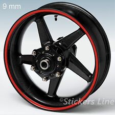 Adesivi ruote moto strisce cerchi STANDARD spess. 9mm kit generico scelta colori