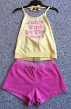 Juicy Couture Girls pink 💕 Halter Shirt New & Terry Shorts Set Sz 10