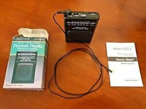 Radio Shack Realistic AM FM Stereo Mate 12-179 pocket portable vintage sangean