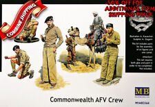 """Master Box 3564 WWII """"Commonwealth AFV crew"""" British Troops in Africa, kit 1/35"""