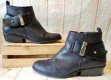 White Mountain Black Limerick Low Heel Ankle Boots Women Sz 8M