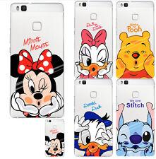 Funda carcasa HUAWEI P9 LITE silicona TPU Minnie, Daisy, Mickey, Donald...
