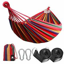 Outdoor Cotton Hammock 210 x 150 cm, Load Capacity up to 200 kg