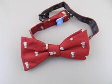 "COUNTESS MARA $65 Red Animal Print MEN WIDTH 2.5"" Silk Blend Bow Tie SALE S26"