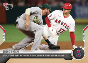 2021 Topps Now #577 Shohei Ohtani 1st Player with 37 HR and 15 SB Before Aug 02