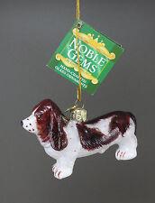Kurt S. Adler Ksa Noble Gems Basset Hound Glass Christmas Ornament New
