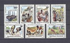Tiere, Landschaften - Ruanda - 1152-1158 ** MNH 1981
