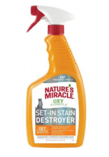 Natures Miracle Just for Cats Orange Oxy Stain and Odor Remover -Stain Destroyer