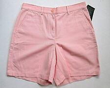 NWT Lauren Ralph Lauren Pink Ice 100% Cotton Walking Bermuda Shorts w/Pockets 8