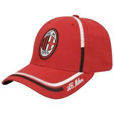 Italy AC Milan ACM 1899 Sun Buckle Curved Bill Shield Soccer Hat Cap Serie A