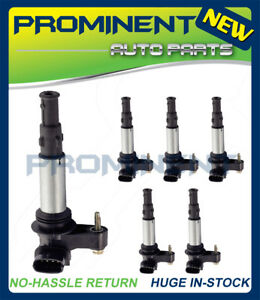 6x Ignition Coil UF375 Replacement for Cadillac CTS SRX Allure LaCrosse 2.8 3.6L