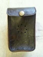 Deben MK1 Brown leather ferret finder case / belt loop with studs.