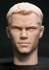 "Tête. RESIN HEAD SCULPT. ""Matt Damon"" Action figures,1/6 scale 12"". V-164"