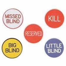 5 Piece Poker Dealer Button Game Set Kill Big Little Missed Blind Reserved