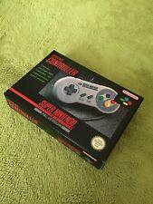 SNES SUPER NINTENDO ORIGINAL / OFFICIAL GAME CONTROLLER-BOXED-VGC