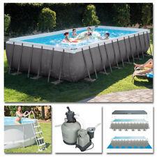 INTEX Komplettset Frame Pool 732x366x132cm + Sandfilteranlage Swimmingpool