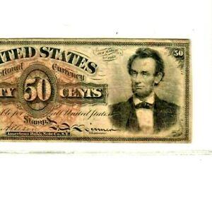 """50 CENT """"FR-1374"""" (ABRAHAM LINCOLN) 1800'S """"FR-1374""""(ABRAHAM LINCOLN) CRISPY!!!!"""
