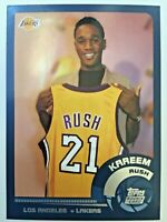 Kareem Rush, Missouri Tigers, LA Lakers, 2002 Topps, #204, ROOKIE CARD RC, + LOT