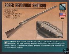 ROPER REVOLVING SHOTGUN 12 Gauge Gun Atlas Classic Firearms PHOTO CARD