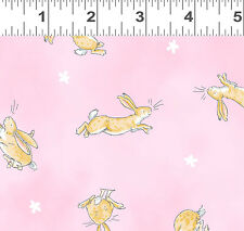Guess How Much I Love you Bunny Rabbit Fabric by Clothworks